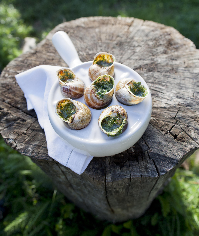 Schnecken mit Kräuterbutter, Escargots überbacken, gratiniert