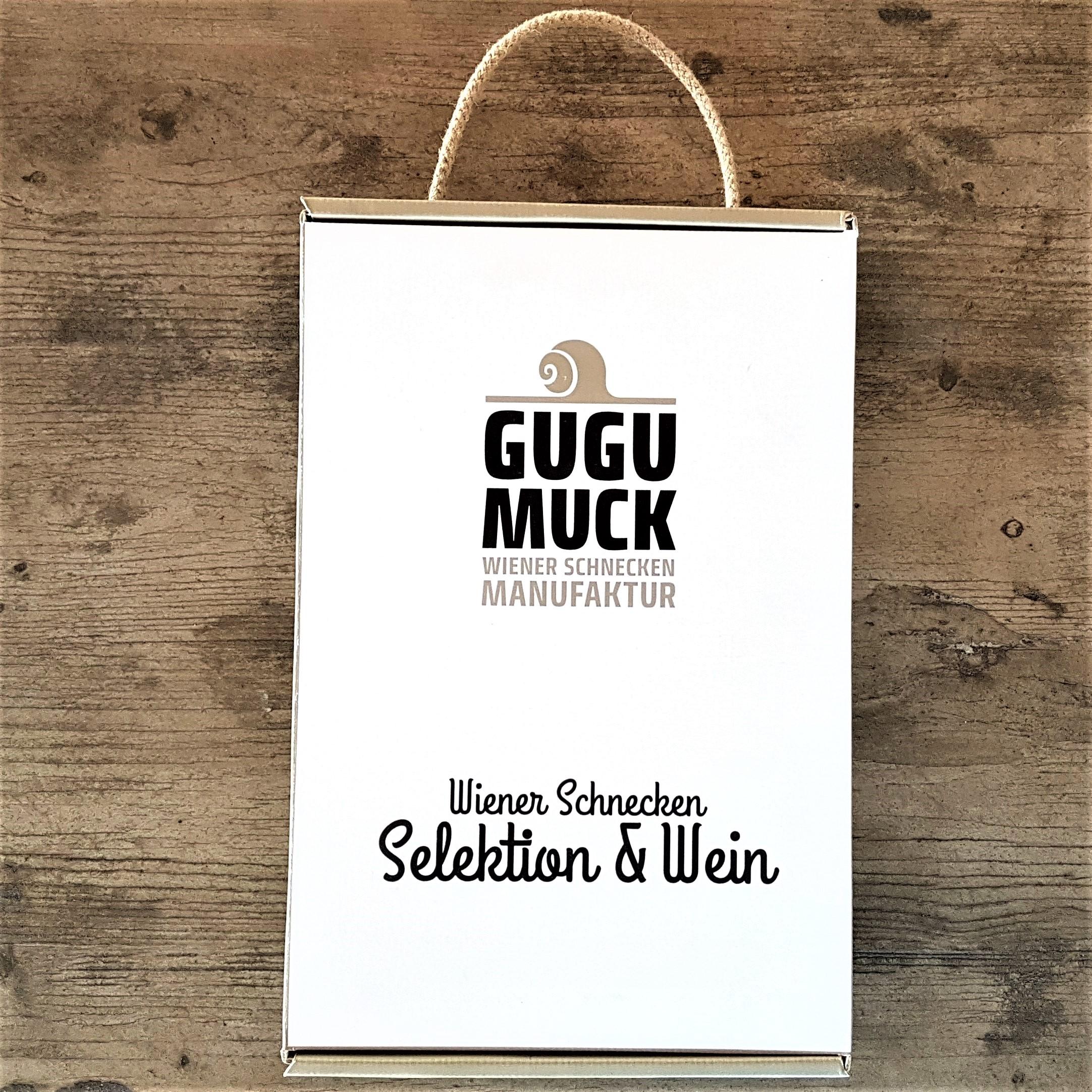wein_verpackung, Gugumuck Wiener Gemischter Satz vom Nussberg mit einer Selektion von Escargot-Delikatessen, Weinbergschnecken