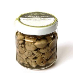 Schneckenleber aus dem Hause Wiener Schnecken-Manufaktur Gugumuck. Schneckenleber mit feinem Lebergeschmack und seiner einzigartigen Form. Durch eine feine nussige Note, ein ausgefallenes Geschmackserlebnis, die Krönung.