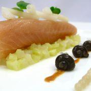 carpediem, Menü mit der Schnecken-Leber und Escargot-Kaviar (Schnecken-Perlen)