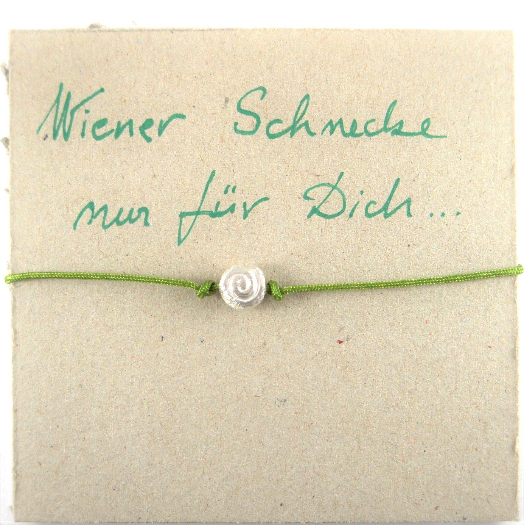 Schmuck, Schneckenarmband, 925, Silber, Bändchen, Geschenk, Wiener Schnecken Armband, Gugumuck