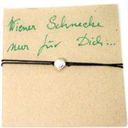 Schmuck, Wiener Silber-Schnecke mit Lederarmband von Gugumuck