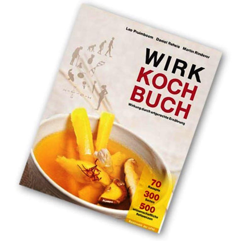 Wirkkochbuch, Kochbuch. Das Wirkkochbuch beschäftigt sich mit der artgerechten Ernährung für Gesundheit und gegen die Ursache für gesundheitliche Probleme. Über 70 Rezepte.