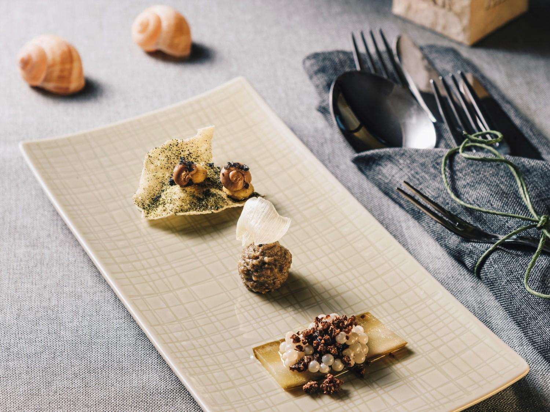 Wiener Schnecken Gabelbissen im Gugumuck-Bistro